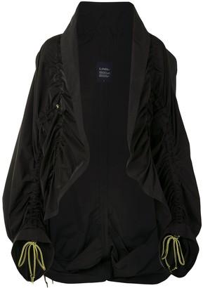Yohji Yamamoto Gathered Drawstring Oversized Jacket