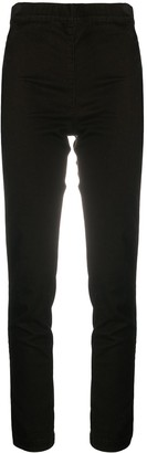D-Exterior Ribbed Skinny-Fit Trousers