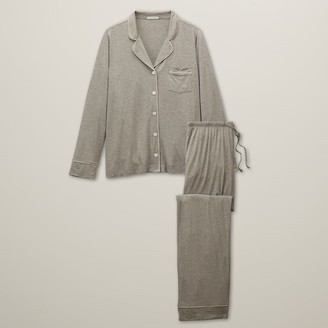 Love & Lore Love And Lore Piped Pj Set Heather Grey Small