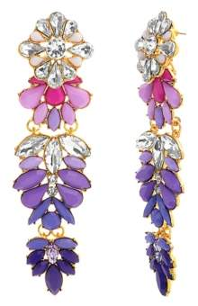 Steve Madden Casted Stone Drop Earrings