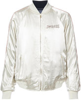 Visvim embroidered bomber jacket - men - Silk - 4