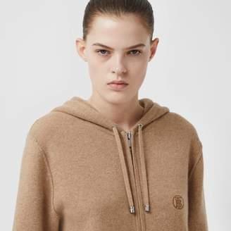 Burberry Monogram Motif Cashmere Blend Hooded Top