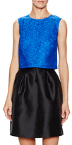 Shoshanna Lace Sleeveless Crop Top