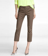Express Cotton Sateen Cropped Columnist Pant