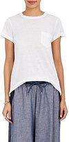 Sacai Women's Linen-Blend Pleated-Back T-Shirt