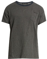 Longjourney Crew-neck patch-pocket cotton T-shirt