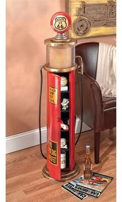"Design Toscano Route 66 Gas Pump 50"" Novelty Floor Lamp"