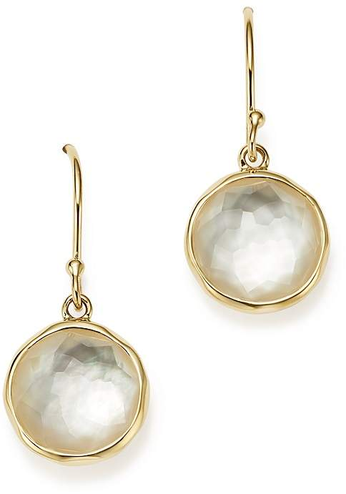 Ippolita 18K Yellow Gold Rock Candy Mini Lollipop Earrings in Mother-of-Pearl Doublet