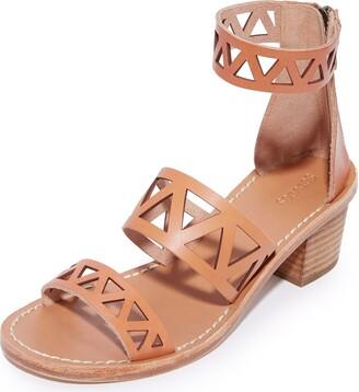 Soludos Women's Geo Laser Cut Midheel Sandal Flat