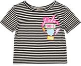 River Island Mini girls stripe badge t-shirt