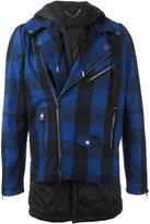 Diesel Black Gold 'Jethron' hybrid tartan jacket - men - Cotton/Polyester/Rayon/Wool - 50