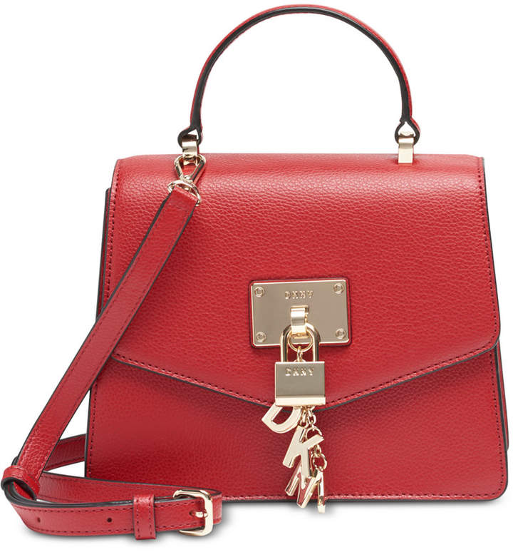 DKNY Elissa Top Handle Leather Satchel