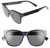 Christian Dior Women's Ribbon 55Mm Sunglasses - Black/ Blue