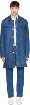 Sunnei Blue Denim Long Pocket Jacket