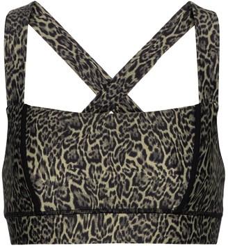 The Upside Maria leopard-print sports bra