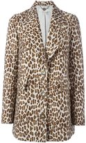 Stella McCartney leopard peaked lapel coat - women - Cotton/Polyamide/Viscose/Wool - 40