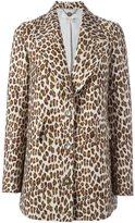 Stella McCartney leopard peaked lapel coat