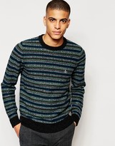 Original Penguin Striped Wool Knitted Jumper