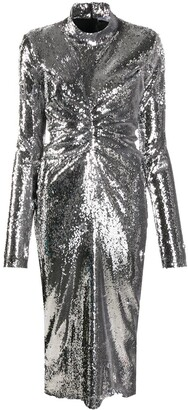 Act N�1 Shimmery Midi Dress