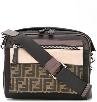 Fendi colour-block FF motif messenger bag