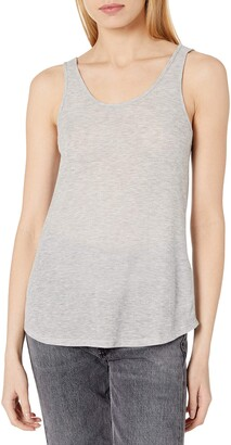 GUESS Women's Sleeveless Double Scoop Neck Tank