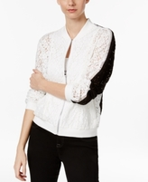 INC International Concepts Petite Lace Bomber Jacket