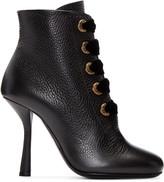 Lanvin Black Eyelets Ankle Boots