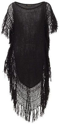 Mes Demoiselles Cannon Knitted Cotton-blend Cover Up - Womens - Black