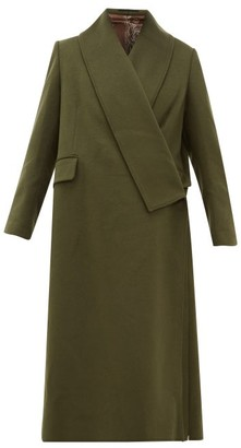 Golden Goose Oversized Wrap-around Coat - Womens - Khaki