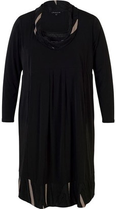 Chesca Cowl Collar Trim Jersey Dress