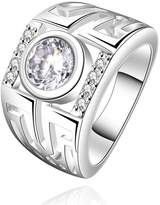HMILYDYK Beautiful Jewelry 925 Sterling Silver plating Elegant Austrian Crystal Ring Band Wedding Rings
