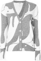 Thom Browne penguin intarsia cardigan