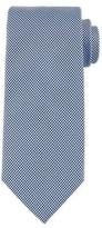 HUGO BOSS Neat Micro-Gingham Silk Tie, Blue