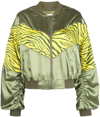 Apparis Zebra Print Bomber Jacket