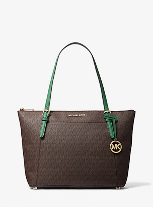 MICHAEL Michael Kors MK Ciara Large Logo Top-Zip Tote Bag - Pine Green - Michael Kors