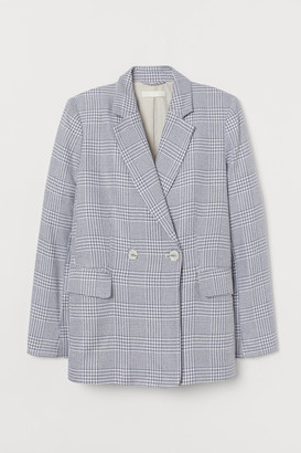 H&M Double-breasted Blazer - Blue