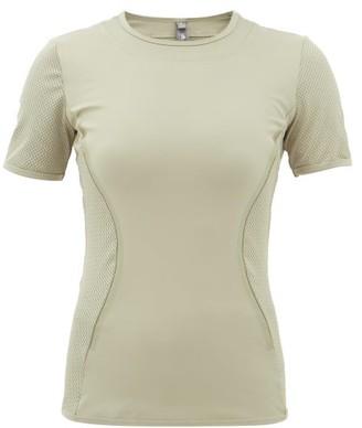 adidas by Stella McCartney Mesh-panel Short-sleeved T-shirt - Womens - Green