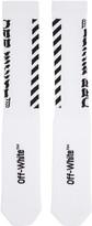 Off-White White Diagonal Logo Socks
