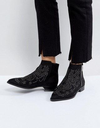 Asos AUTO PILOT Suede Studded Ankle Boots