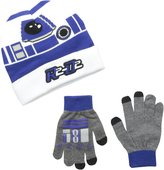 Star Wars Little Boys' R2D2 Cuffed Beanie and Glove Set
