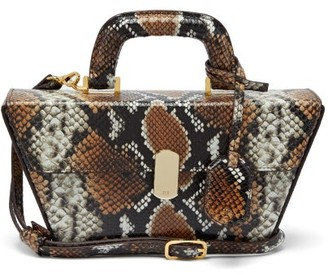 Hillier Bartley Cassette Python-effect Leather Bag - Python