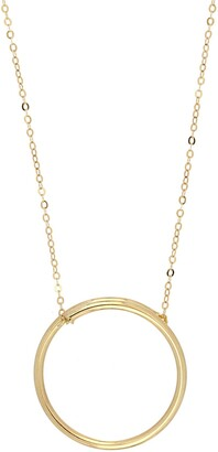 Bony Levy 14K Yellow Gold Open Circle Pendant Necklace