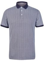 Burton Mens Navy Ditsy Print Polo Shirt