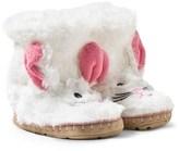 Hatley Fuzzy Bunny Face Slippers