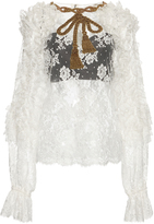 Dolce & Gabbana Long Sleeve Lace Blouse
