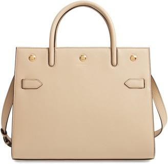 Burberry Medium Title Grainy Leather Bag