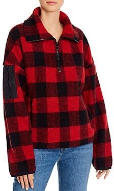 Aqua Half-Zip Sherpa Faux Fur Jacket - 100% Exclusive