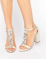 Asos HIYA Bridal Embellished Heeled Sandal