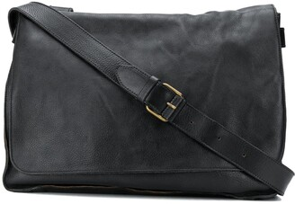 Officine Creative Weathered Leather Messenger Bag