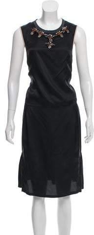 Marni Embellished Midi Dress
